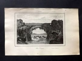 L'Univers C1850 Antique Print. Flying Bridge, Whang-Ho, China 52